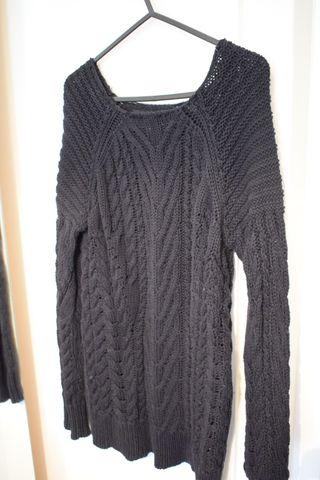 Sweater Black Zara Oversize