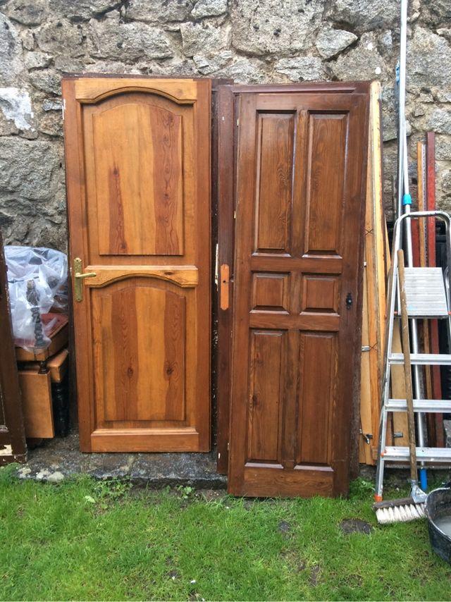 Puertas madera antiguas de segunda mano por 25 en for Puertas viejas de madera