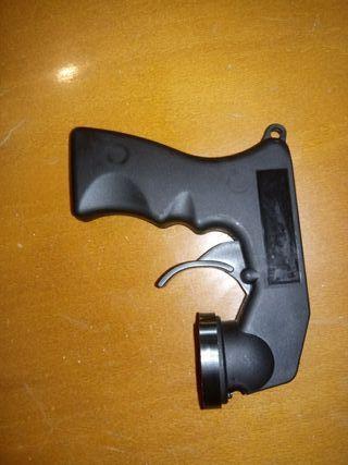 pistola soporte para pintar con botes de espray