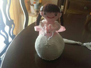 Muñeca comunión crochet