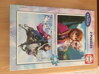Puzzle Elsa/Ana, juguete niños