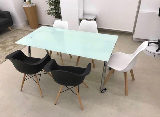 Mesa cristal oficina estudio de segunda mano por 120 - Mesas estudio cristal ...