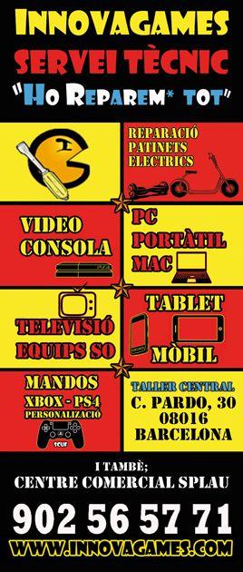 reparamos tu consola, tv, movil, hoverboard tienda