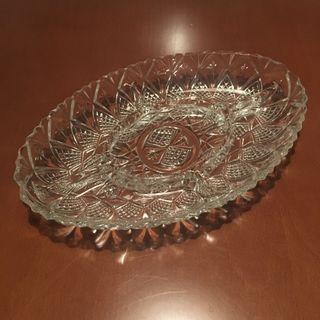 Bandeja vintage cristal