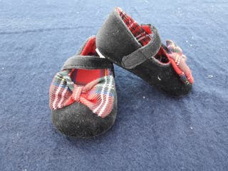 zapato bebe escocés nuevos 0 a 6 meses