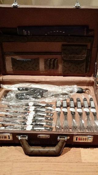 Cubertería set profesional maletin cuchillos