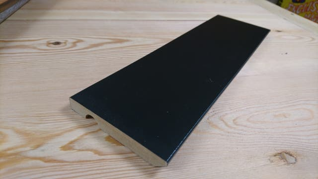 Rodapie madera blanco 9cm de segunda mano por 1 45 en - Precio rodapie blanco ...