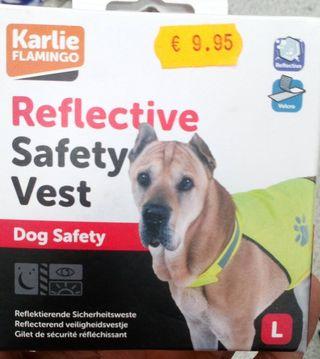 Chaleco reflectante para perros nuevo