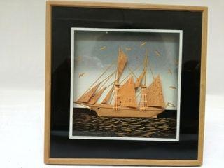 Cuadro de velero vintage
