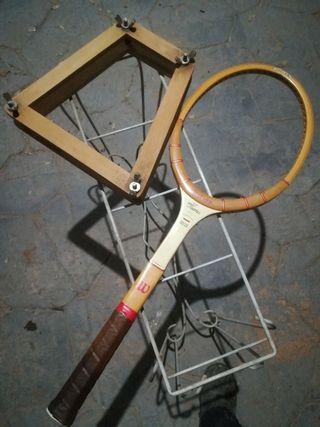 Raqueta tenis antigua