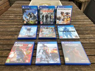 Juegos PS4 (pack o separados)