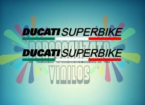 pegatina ducati superbike (pareja)