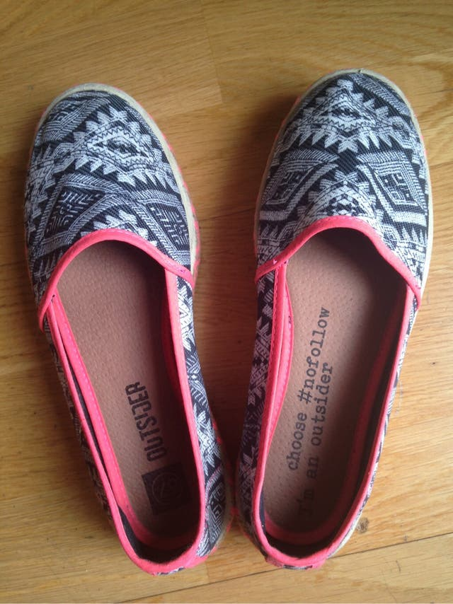 Zapatos alpargatas plataforma T37 Nuevos