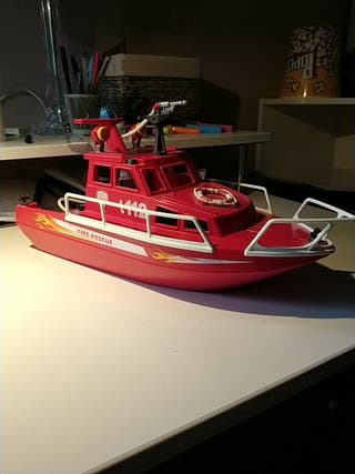 Barco de Playmobil Fire rescue.