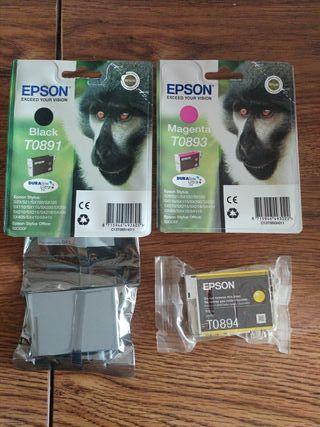 Tinta impresora Epson T0891 T0893 T0894