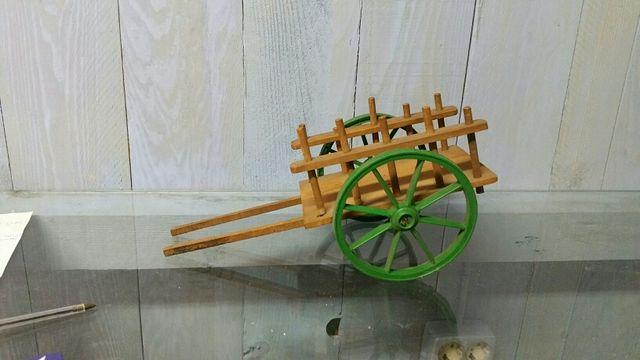 Carro Juguete Madera Antiguo De Segunda Mano Por 55 En Cerdanyola