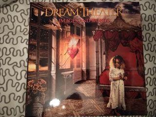 Dream Theater firmado vinilo LP Petrucci