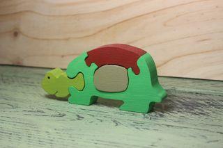 Tortuga de madera puzzle juguete