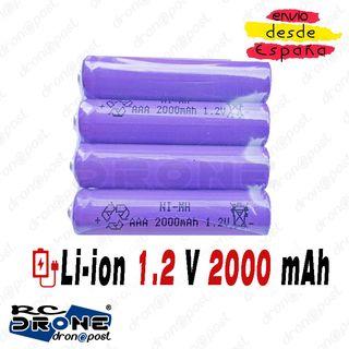Baterías 1.2v AAA 3A NiMH 2000mah AAA Baterías rec