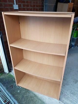 3 shelve wooden unit book shelf, storage, tools,