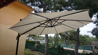 Parasol y contrapesos