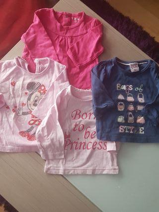 lote camisetas bebe
