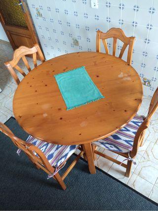 Mesa cocina redonda extensible