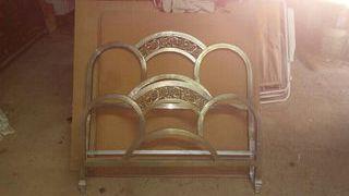 cama antigua niquelada