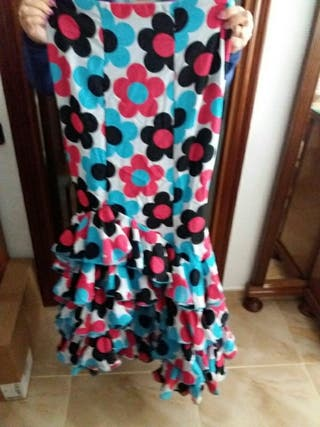 Traje flamenca falda
