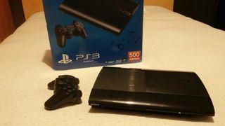 PS3 slim 500gb + controller Bluetooth Sony