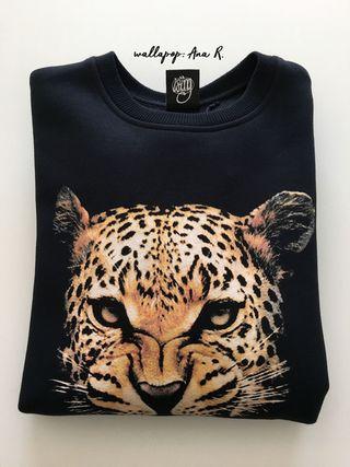 Sudadera leopardo marca Wrung nueva con etiquetas