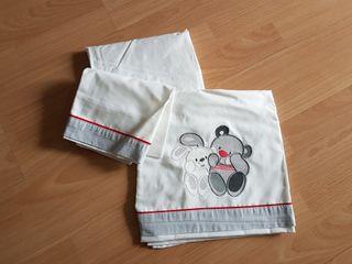 Juego sábanas para minicuna o capazo de bebé