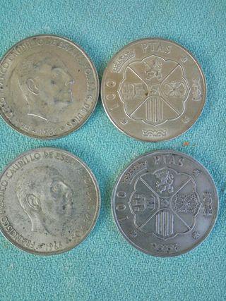 Monedas 100 ptas Franco 1966 plata