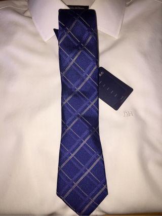 Corbata NUEVA azul rombos