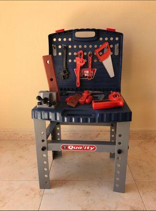 Banco de herramientas juguete