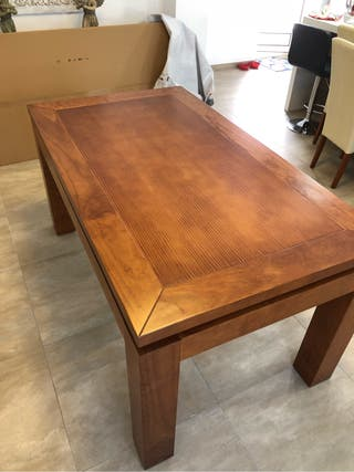 Mesa de comedor extensible madera maciza