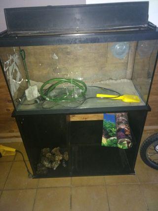 pecera de 100 litros con mueble