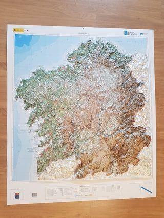 Mapa de Galicia con Relieve