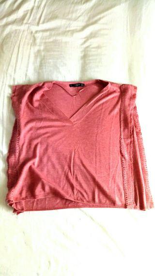 Camiseta mango rosa