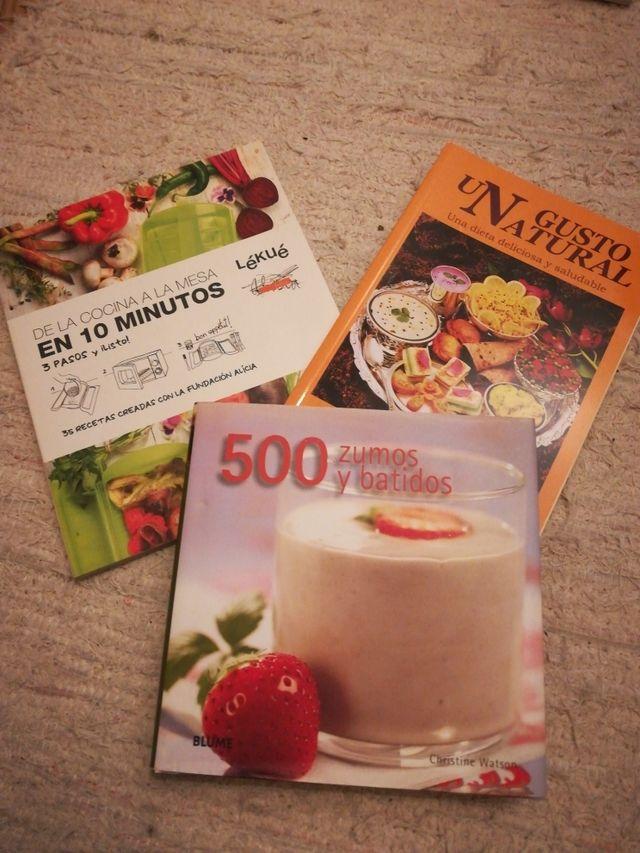 Pack 3 Libros Recetas Sanas Y Rápidas De Segunda Mano Por 15