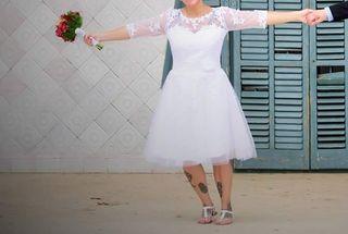 Vestido novia 1 solo uso