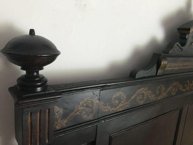Cabecero de cama madera tallada de segunda mano por 120 - Cabecero madera tallada ...