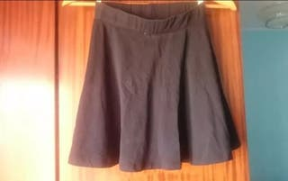 falda negro talla S