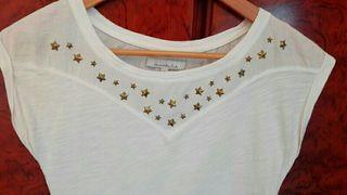 Camiseta blanca Bershka T S Buen estado