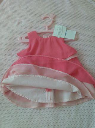 Vestido bebé Mayoral nuevo 2-4 meses.
