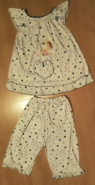 Pijama verano romántico talla M