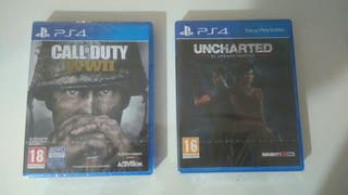 Vendo juegos PS4. Call of Duty y Uncharted.
