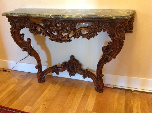 Consola mueble entrada marmol nogal preciosa de for Muebles de segundamano madrid