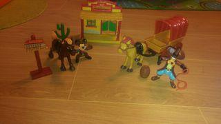 Muñecos Mickey y Goofy Oeste Vaqueros