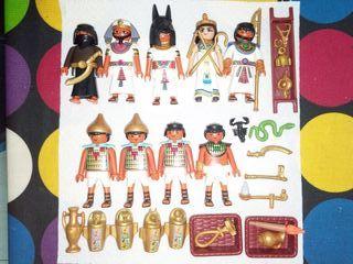 Lote de Playmobil egipcios